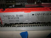 NATIONAL DAIRY DISPATCH  FT REEFER CAR 1/87 HO RTR BUILT ATHEARN KADEES