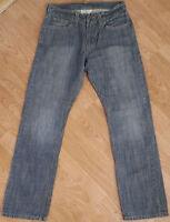 Levis 514 Jeans Regular Fit Straight Leg Denim Button Fly Blue Size W29 L30
