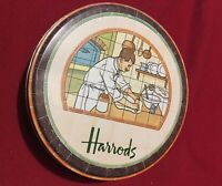 Vintage Harrods Limited 1984 Bakery Department Collectible Round Metal Tin EMPTY