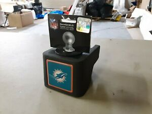 """ShinShield NFL Rubber Trailer Hitch Cover, Miami Dolphins, 2-1/2"""" Ball 1172"""