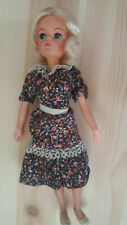 Vintage GOOD CONDITION SINDY Doll Blonde Floral Dress 2 GEN1077 033055X FREE SHI