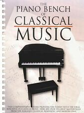 The Piano Bench of Classical Music Sheet Music Piano Solo Book NEW 014025482
