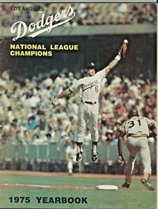 Los Angeles Dodgers 1975  Yearbook Celebrating 1974 NL Championship