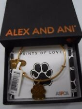 Alex and Ani Charity By Design Prints Of Love Bracelet Rafaelian Gold NWTB & C