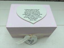 Shabby Personalised Chic Memory Box Baby Girl  Bereavement Daughter Sentimental