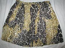 NEW! $89 Alex Marie size 14P black yellow animal womens skirt above knee