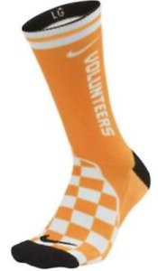 Nike Dri-Fit Tennessee Volunteers Performance Crew Socks SX7033-100 Large