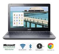 Acer Chromebook Laptop Intel 1.4 GHz 4 Memory 16 HD Bluetooth Wifi HDMI Webcam