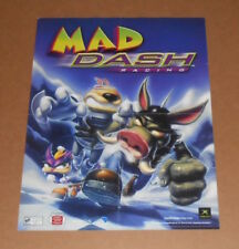 Mad Dash Racing Xbox 2-Sided Video Game Poster 2001 Promo 20.5x15.5