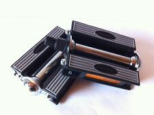 """BICYCLE CRUISER VINTAGE PEDALS 1/2"""" GRAY/BLACK CYCLING BIKES NEW"""