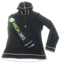Alo XBOX 360 Black Yoga Jacket Hooded Cool Fit Pullover XXL 1/2 Zip Rare