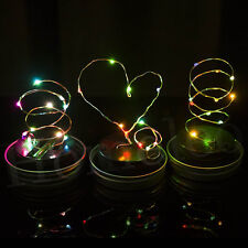 1 Pack LED Fairy Light Solar Mason Jar Lid Lights Color Changing Garden Decor