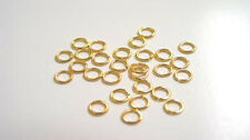 100 GOLD PLATED OPEN JUMP RINGS 4MM 22 KT GP