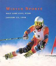 #3180 FD Program 32c Alpine Skiing Stamp w/FDC