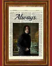 Severus Snape Harry Potter Dictionary Art Print Picture Always Alan Rickman