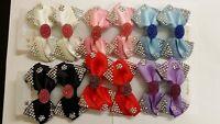 Girl Ladies Fashion Shining Brand New Diamante Crystal Bow Hair Clip 12 Pcs