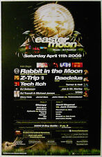 EASTER MOON 2009 POSTER -- 11 x 17 inch Rabbit in the Moon Z-TRIP Daedelus