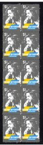 MICHAEL HUTCHENCE INXS STRIP OF MINT VIGNETTE STAMPS 4