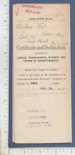 A757 Joseph N. Croteau '19 trade mark paper Boston motorcycle Grace I. Cleveland