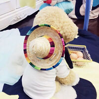 Pet Dog Mini Sombrero Mexican Wild West Hat Fancy Funny Dress Costume Outfit l