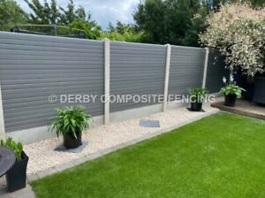 Composite fence panels plastic fence panels grey  +++ SEE VIDEO +++