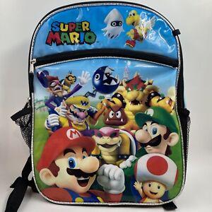 Super Mario Backpack Buddies Mario Luigi Todd Bowser Wario