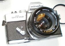 Minolta SRT 201 202 Camera Rokkor-X 55mm f1.4 Lens Good Working Condition Clean