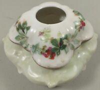 RS Prussia Vintage Porcelain Hair Receiver W/ Leaf Design & Red Mark