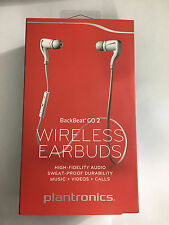 Plantronics BackBeat Go 2 Wireless Earbuds Bluetooth Sweat Proof - White RETAIL