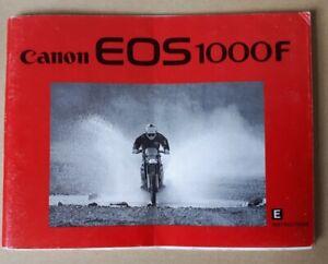 Original Vintage Instruction Manual - Canon EOS 1000F 35mm SLR Camera, Ephemera