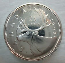 1963 CANADA 25 CENTS PROOF-LIKE SILVER QUARTER COIN