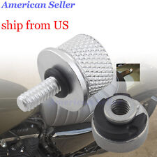 Chrome Billet Aluminum Nut Kit Seat Bolt Kit For Harley-Davidson 1996-2017