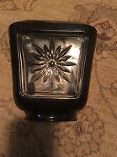 Vintage Art Deco Street Lamp Sconce Light Shade Lamp Black & Clear Glass