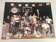 """RARE Vtg 1990 Original Los Angeles LAKERS / THE SIMPSONS Poster 26""""x20"""""""