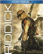 Riddick Complete Collection New Blu-ray 4 Films Pitch Black Dark Fury Chronicles