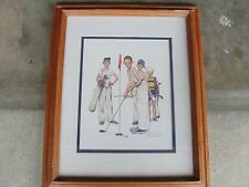 "Norman Rockwell's ""Missed"" Color Print 11x14 with frame"