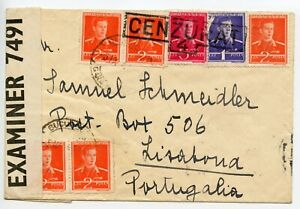UNDERCOVER MAIL Roumania WWII 194? to Post Box 506 Lisbon [Thomas Cook Service]