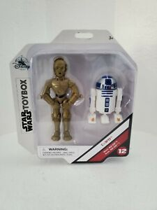 Disney Star Wars Toy Box #12 C-3PO with R2-D2 Action Figures Exclusive New NIB