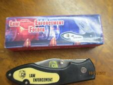 Law Enforcement Folder Clip On Knife #15-242Le original box