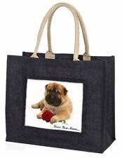 Shar-Pei+Rose 'Love You Mum' Large Black Shopping Bag Christmas P, AD-SH2RlymBLB