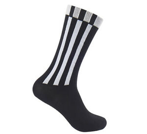 adidas 3 Stripes Essential Crew Socks 1 Pair Black Tennis Running Soccer FL3694