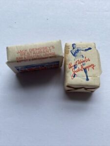 Jack Dempsey Restaurant Table Sugar Cubes