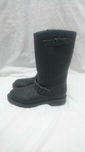 Vegetarian Shoes AIRSEAL ENGINEER BOOT NON STEEL TOE (BLACK) UK Size 8