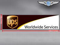 UPS UNITED PARCEL SERVICE RECTANGULAR LOGO DECAL / STICKER