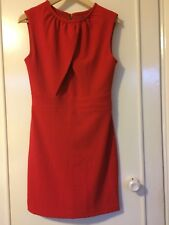 Ladies MANGO Red Short Fitted Dress With Stretch Size S UK 8-10