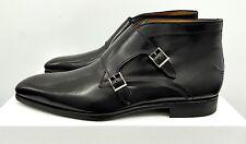 Magnanni Zane Double Monk Strap Boots - Black Leather - Size: 10M