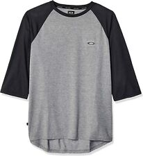 New with tags Oakley men's 3/4 sleeve shirt heather grey Xl