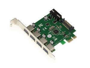Pcie USB 3.0 - 7 Ports: 5 Ports On Flat Angle Bracket+2 Connector 19 9pts