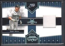 TOBY HALL 2005 DONRUSS CHAMPIONS IMPRESSIONS RAYS GAME USED JERSEY SP $15