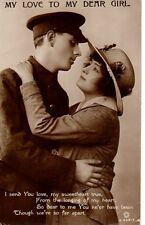 """My Love to my Dear Girl..I send..."" Rotary, Real Photograph, Postcard"
